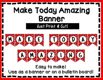 Make Today Amazing Banner - Bulletin Board - Red