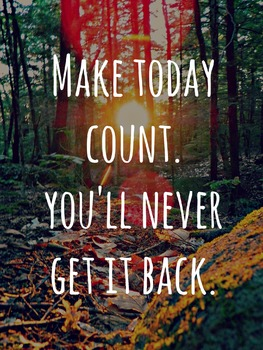 """""""Make Today Count"""" Motivational Poster"""