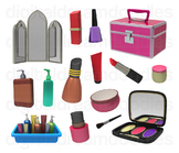 Make Up Clipart - Beauty Cosmetic Set Digital Graphics