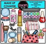 Make Up Counter Clip Art Bundle {Educlips Clipart}