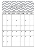 Make-Up Work Calendar Template