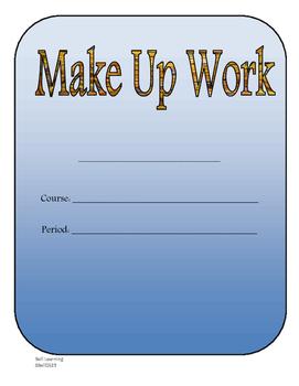 Make Up Work Plan