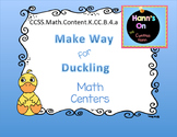 Make Way For Duckling Math centers