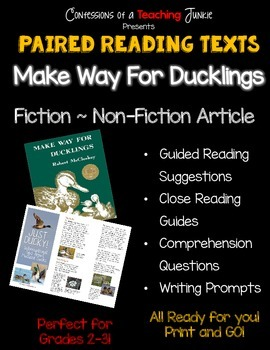 Make Way For Ducklings – Paired Reading Activities