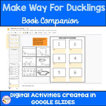 Make Way For Ducklings Sequencing and Activities