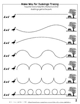 Make Way For Ducklings: Writing Patterns Practice