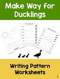 Make Way For Ducklings: Handwriting Pattern Worksheets