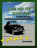 Make Way For Ducklings and Canada Goose Reading and Media Activities - 23 pages