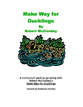 Make Way for Ducklings Curriculum Pack