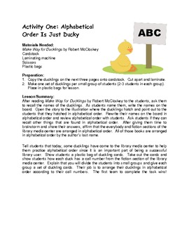 Make Way for Ducklings Activity Packet