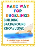 Make Way for Ducklings Building Background Knowledge
