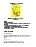 Make Way for Ducklings  C. Core Read Aloud Lesson with Response Activities