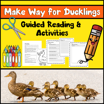Make Way for Ducklings | Caldecott Book Guided Reading Activities