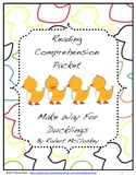Make Way for Ducklings Reading Comprehension Packet