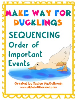 Make Way for Ducklings Sequencing Order of Events