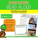 Make Way for Ducklings Understanding Vocabulary