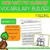 Make Way for Ducklings Vocabulary FREEBIE
