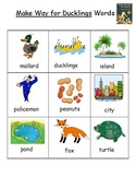 Make Way for Ducklings Vocabulary Word List