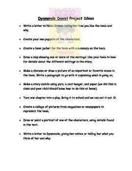 """""""Make Way for Dyamonde Daniel"""" Project Ideas and Spanish/English Letter Home"""