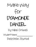 Make Way for Dyamonde Daniel Reading Response Journal & Activities