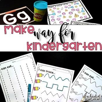 Kindergarten Beginning of the Year: First Day, Word Work, Centers