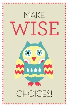 Make Wise Choices Poster