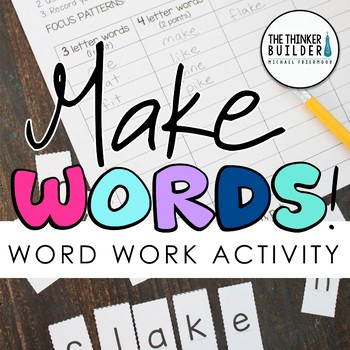 make words word work word study activity tpt