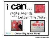 Make Words Letter Tile Mats Phonics