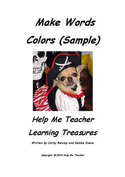 Kindergarten Make Words Sample - Colors - Help Me Teacher