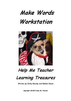 Kindergarten Make Words Workstation - Full School Year - Help Me Teacher