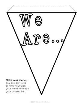 Make Your Mark: Character Education Graffiti Pennant