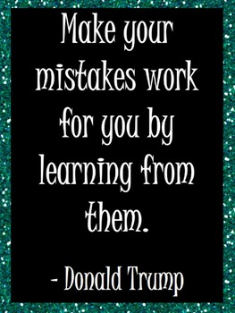 Make Your Mistakes Work: Poster