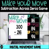 Make Your Move 3 Digit Subtraction Across Zeros Digital Game
