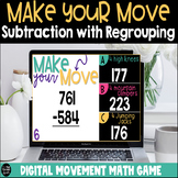 Make Your Move 3 Digit Subtraction With Regrouping Digital Game