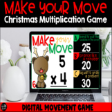 Make Your Move Christmas Multiplication Facts Digital Game