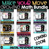 Make Your Move Digital Games Growing Math Bundle