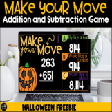 Make Your Move Halloween Addition and Subtraction Freebie