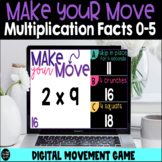 Make Your Move Multiplication Facts 0-5 Digital Game