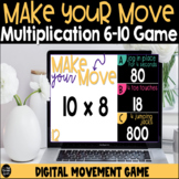 Make Your Move Multiplication Facts 6-10 Digital Game