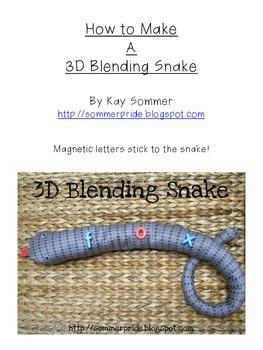 Make Your Own 3D Blending Snake FREE