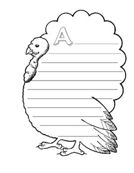 Make Your Own ABC Book About Thanksgiving