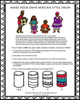 Make Your Own African Drum Craft