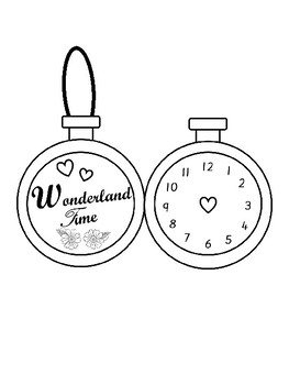 Make Your Own Alice In Wonderland Pocket Watch By Hush A Bye Tpt