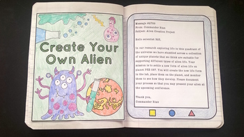 Make Your Own Alien- Creative Writing Activity for levels 2-3