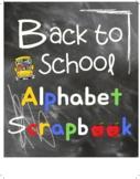 Make Your Own Back To School Alphabet Scrapbook