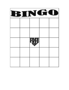 Make Your Own Bingo