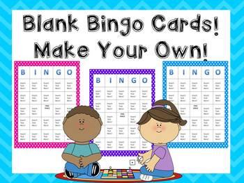 Blank Bingo Cards!