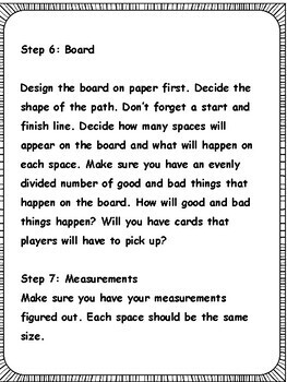 Math Enrichment: Make Your Own Board Game with scoring rubric