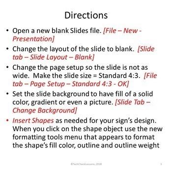 Make Your Own Business Sign Using Google Slides