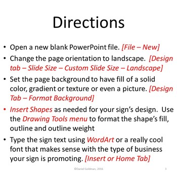 Make Your Own Business Sign Using Microsoft PowerPoint